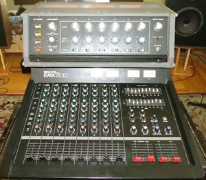 Vintage Analog Powered Mixers YAMAHA EMX200 Shure V,M
