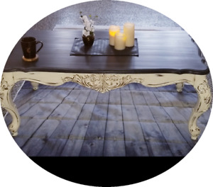 Beautiful solid wood detailed coffee table