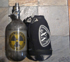 Paintball 4500 air tank, accessories