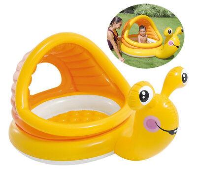 Intex Baby-Pool Schnecke mit Sonnendach & aufblasbaren Boden