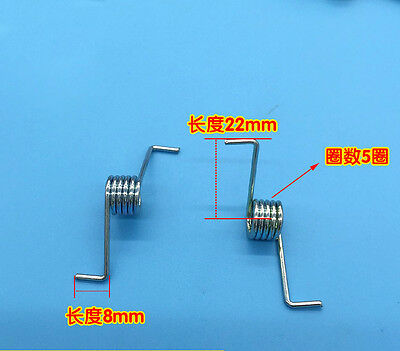 Wire Dia 1.4mm OD 10mm 5 Coils Torsion Spring 4PCS