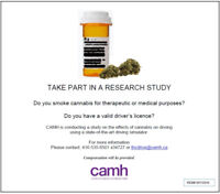 RESEARCH SUBJECTS NEEDED- CANNABIS STUDY