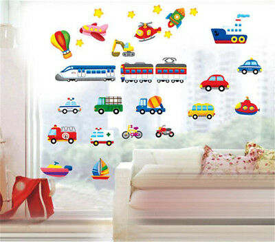 - Traffic Tool Train Car Home Room Decor Removable Wall Stickers Decal Decorations