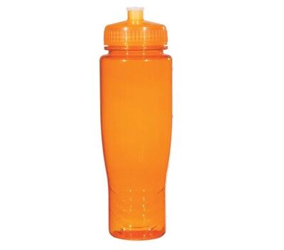 100 Bulk Pack 28 Ounce Orange Water Bottles Lids. USA Made