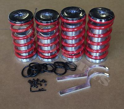 01 Lowering Spring Kit - Red Lowering Adjustable Coilover Coil Spring Kit For Honda Civic 88-00 EF EG EK