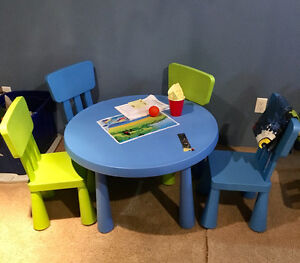IKEA kids mammut table and chairs