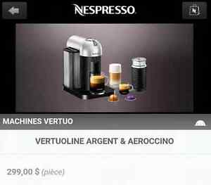 Machine à café NEUVE Nespresso Virtuoline+Aeroccino 260$