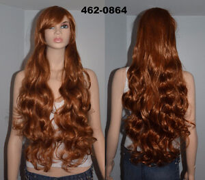 BRAND NEW: 80cm Long Brown Curly Cosplay Wig (462-0864)
