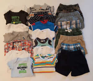 9 Month Boy Shorts & Shirts (14 outfits)