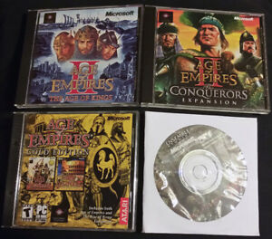 PC Games: Age of Empires 1 and 2, Plus Expansion for AoE 3