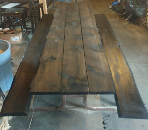 10 ' LiveEdge picnic tables