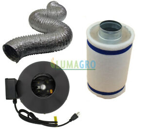 Inline Fan and Carbon Filter Combo
