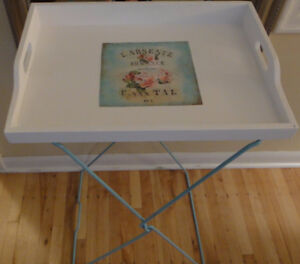 Reduced! Farmhouse Vintage Convertible Wood Tray/Side Table