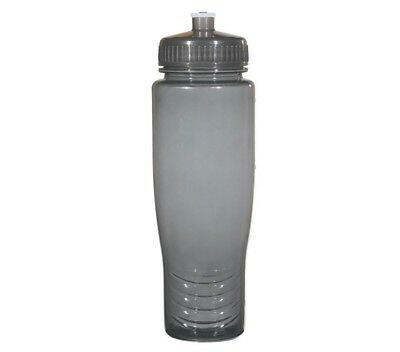 100 Bulk Pack 28 Ounce Black Water Bottles Lids. USA Made