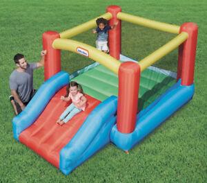 Little Tikes Jr. Jump 'n Slide Bouncer - like new, used indoors
