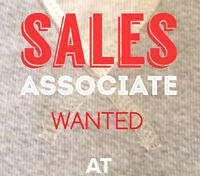 TRAINED SALES ASSOCIATE WANTED