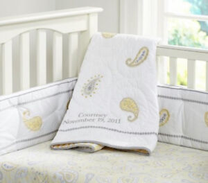 Courtney Crib Bumper and Fitted sheet Pottery Barn Kids