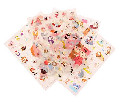 8 Sheets Cute Cat Album Scrapbook Calendar Diary Planner Stickers Decoration Qw