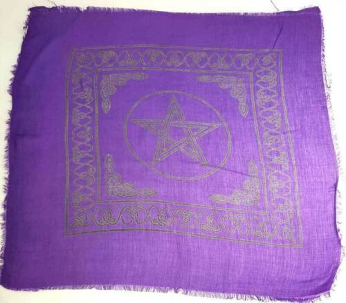 """Pentagram Altar Cloth 18"""" x 18"""" Wiccan Witchcraft Supply Store"""