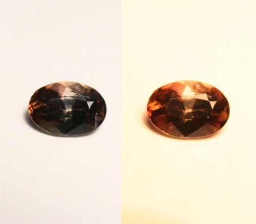 1ct BiColour Axinite - Rare Colour Change Gem Quality - Excellent Clarity
