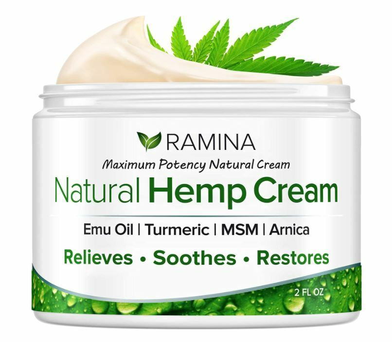 Natural Hemp Cream Relieves Inflammation Muscle Joint Back Knee Arthritis Pain