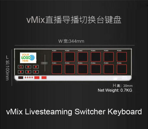 vMix livestreaming video Production switcher USB MIDI keyboard Support AREM