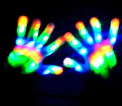 Rainbow LED glove - FULL LED GLOVE, Rave, Light Show
