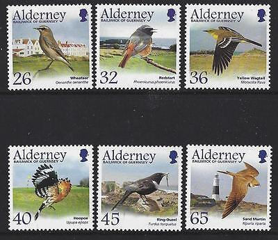 ALDERNEY 2004 MIGRATING BIRDS, PASSERINES UNMOUNTED MINT, MNH