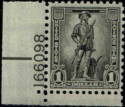 #S4 PLATE NUMBER SINGLE 1957 $1.00 SAVINGS STAMP ISSUE MINT-OG/NH--VF/XF