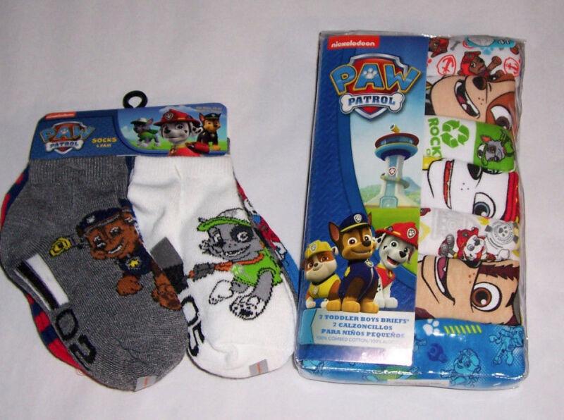 Paw Patrol Toddler Boys 4T Underwear 7 Briefs and 6 Socks