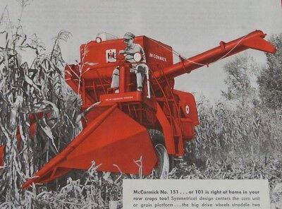 Ih International Harvester Mccormick 101 151 Combine Corn Head Units