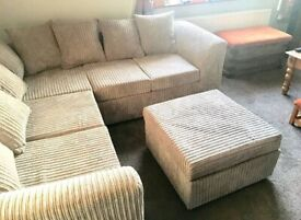 SUPER SALE OFFER BRAND NEW JUMBO CORD LIVERPOOL CORNER SOFA AVAILABLE IN 3+2 SOFA SET AS WELL