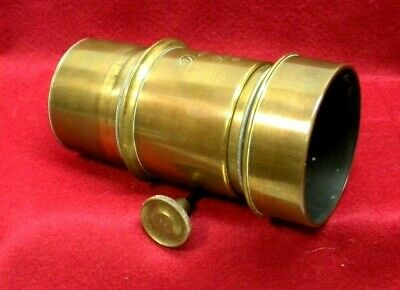 "ANTIQUE DARLOT PARIS BRASS CAMERA LENS-61/4"" LENGTH..ORIGINAL-NICE, used for sale  Shipping to India"