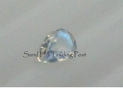 Natural 6x4 Pear Shape .39ct Rainbow Moonstone AAA