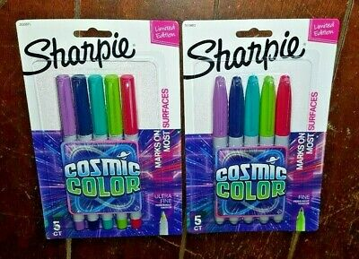 Sharpie Cosmic Color 5ct Ultra Fine 5ct Fine Permanent Marker Sets