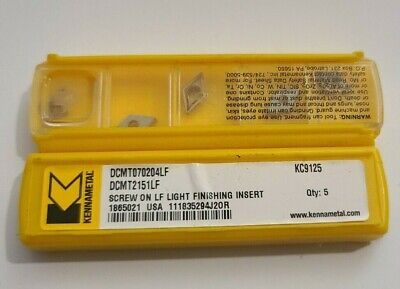Dcmt 2151 Lf Kc9125 Kennametal 10 Inserts Factory Pack