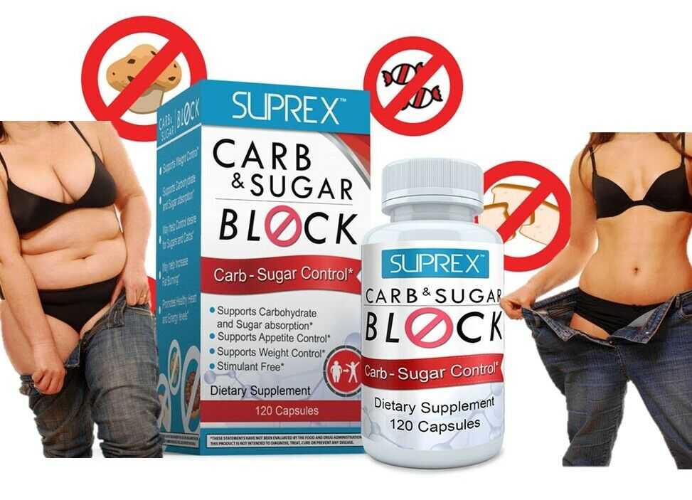 Carb & Sugar Block appetite control lower blood sugar weight control off gluten