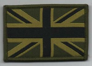 Union Jack Patch MTP TRF Hook and Loop Patch Subdued Green Military Tactical