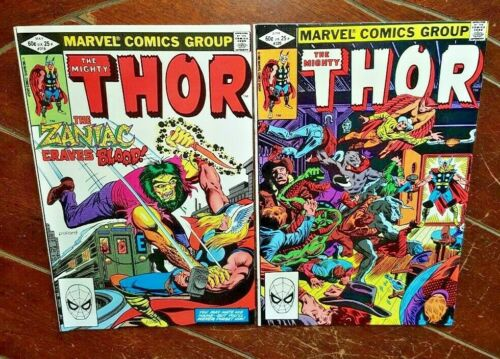 The Mighty Thor #319 & #320, (1982, Marvel): Free Shipping!