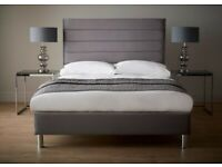 Bella Kingsize bed frame smooth velvet