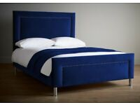 Comfort zone Double bed frame smooth velvet