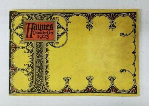 1923 Haynes Automobile Sales Catalog