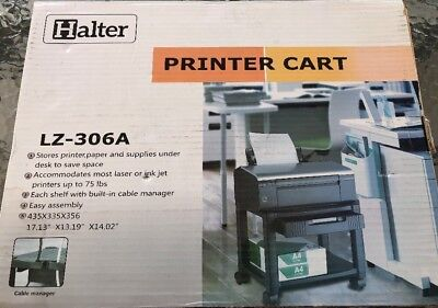 Halter Lz-306a Mini Rolling Printer Cart Machine Stand With Cable Management Up