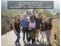 ★★★ TEACH & TRAVEL ABROAD - GET PAID & HAVE YOUR EXPENSES ALL COVERED ★★★