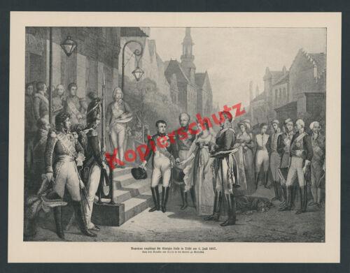 Nic. Gosse Napoleon Leibgarde Tilsit Ostpreußen Königin Luise Zar Alexander 1807