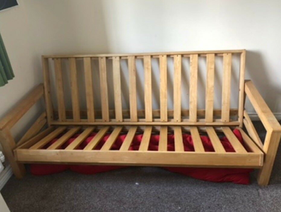 newest collection 532df 45704 Double Wooden Futon Bed | in Abingdon, Oxfordshire | Gumtree