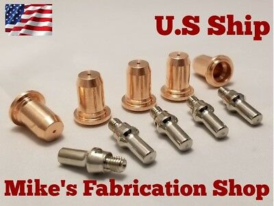 10pc Electrodes Nozzles For Lincoln Electric 20 Plasma Cutter K2820-1