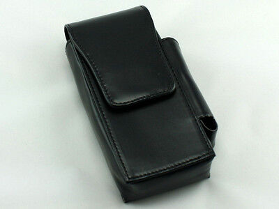 (Black 120's Cigarette Case Pack Holder Pouch with Lighter Compartment)