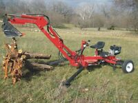 salvage wood chipper or backhoes