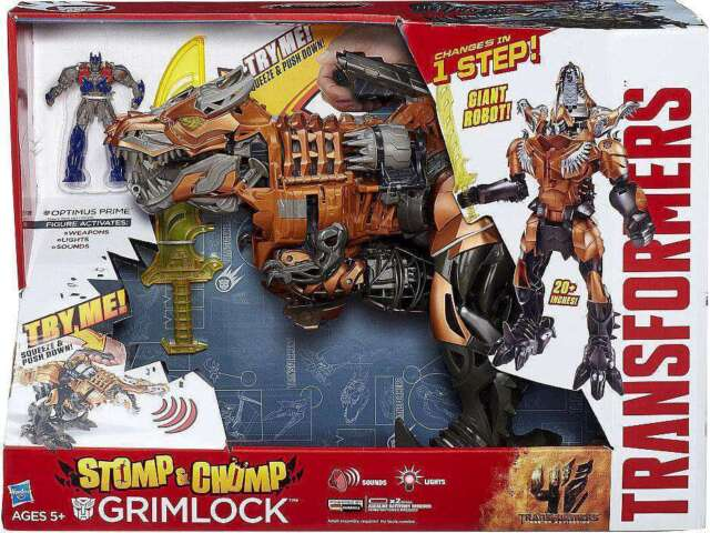 Transformers Age of Extinction Grimlock Stomp and Chomp Action Figure New Sealed